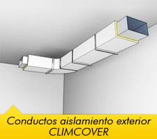 Instalación de conductos de climatización con recubrimiento exterior